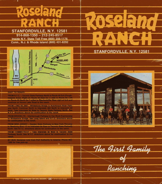 Roseland Ranch Brochure 1991 - 1992 00001