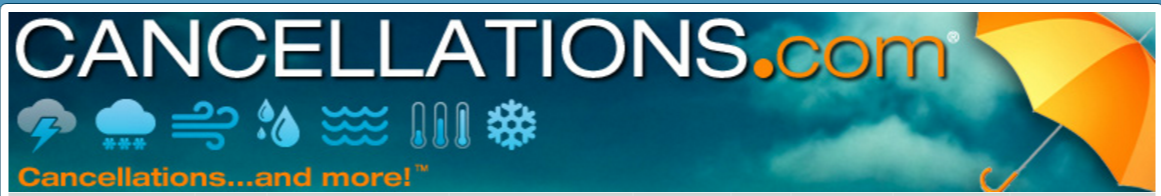 Cancellations.com Where to look for cancellations when there is bad weather and you still have Internet.