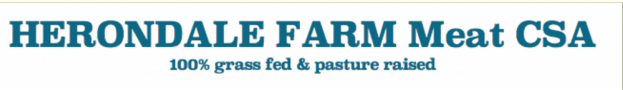 "Herondale Farm ""Our livestock and pastures are all certified organic — 100% free from hormones, antibiotics and steroids."""