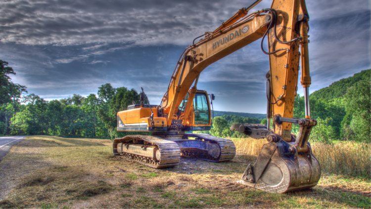 excavator tone mapped